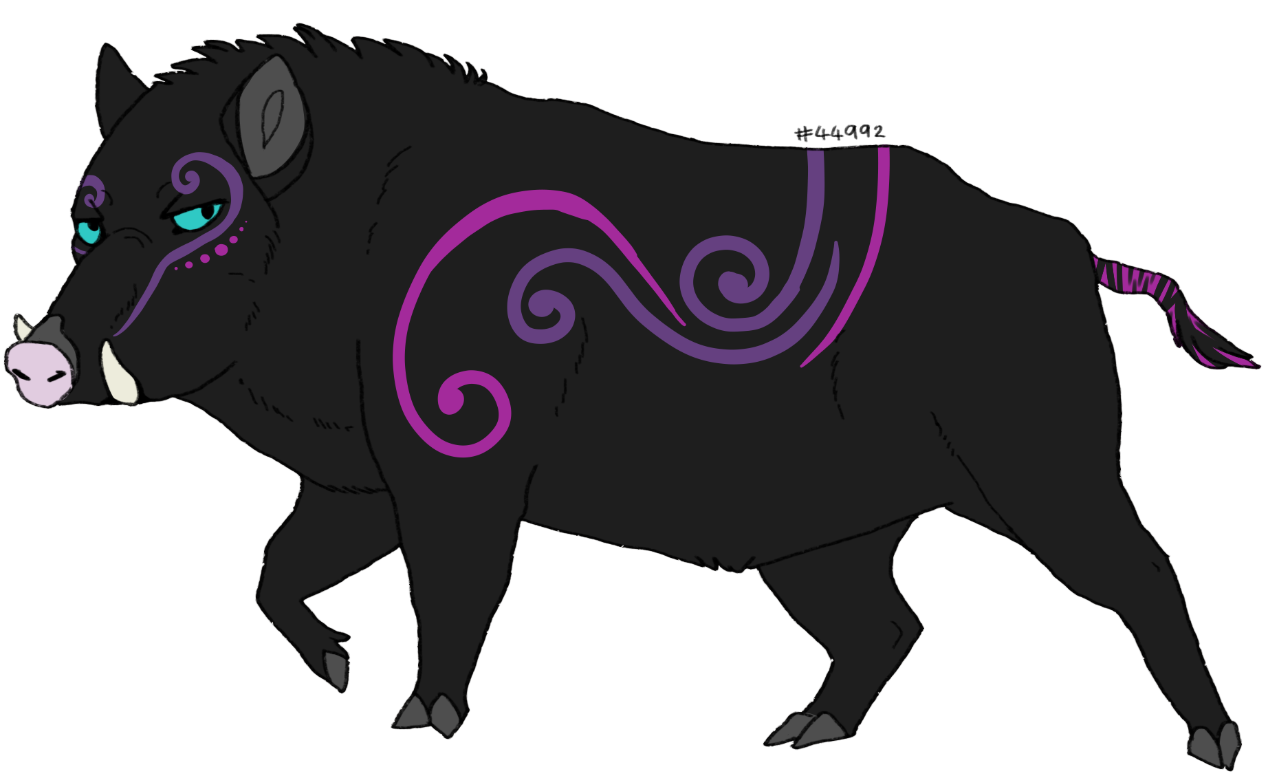 Piggy adoptables lioden mrbfupng. Evil pig png vector black and white download