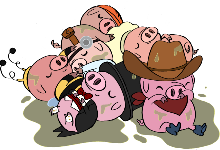 Piglets adventure time wiki. Evil pig png svg black and white stock