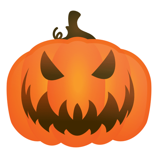 Evil pumpkin png. Halloween transparent svg vector