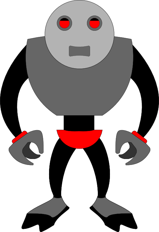 Evil robot png. Clipart i royalty free