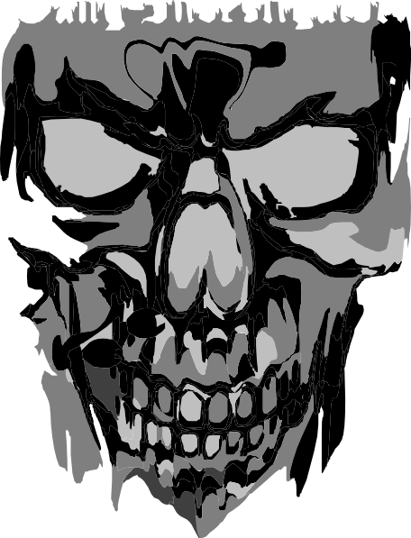 scary skull png
