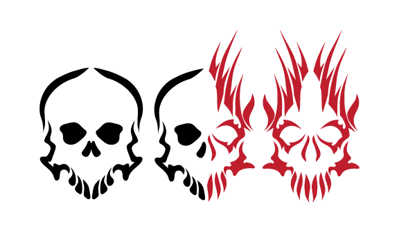 Evil skull png. Free tattoo designs download