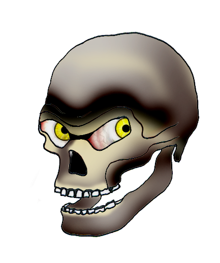 Evil skull png. Cool clip art and