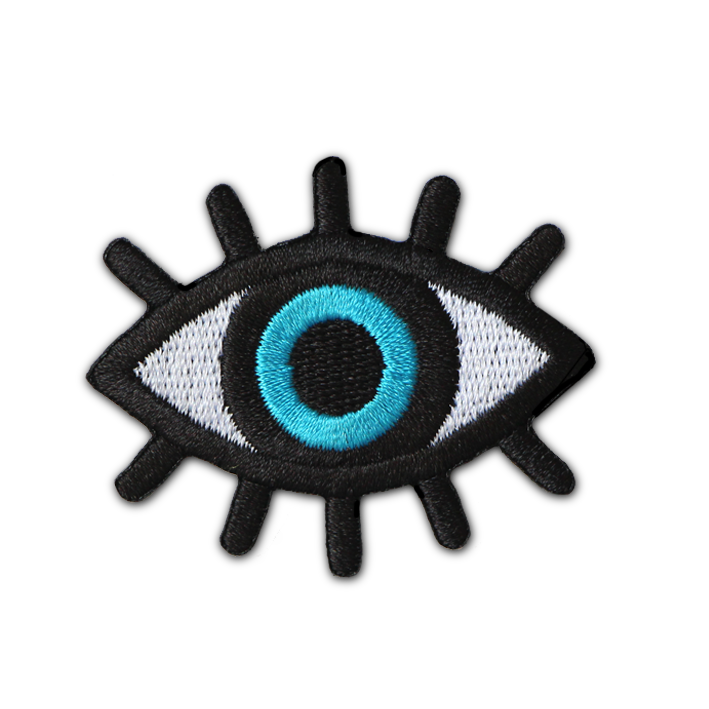 Evil transparent eye. Greek protection patch the
