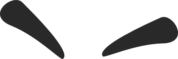 Evil transparent eyebrow. Clipart hanslodge cliparts angry