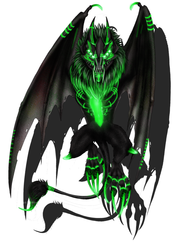 Wolves transparent demonic. Ryuu background by lycanthropeheart