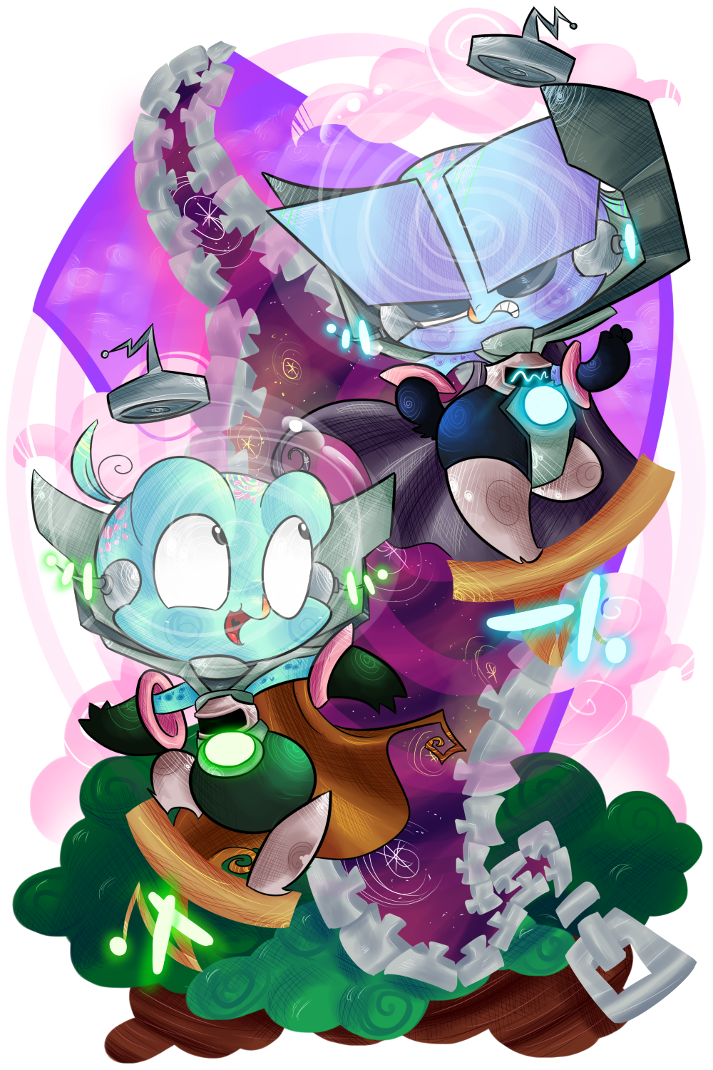 Evil twin artworks png. The twins by krystalfleming