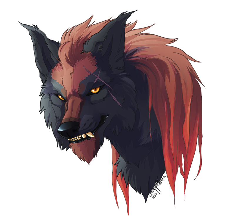 Evil wolf png. Random head video by