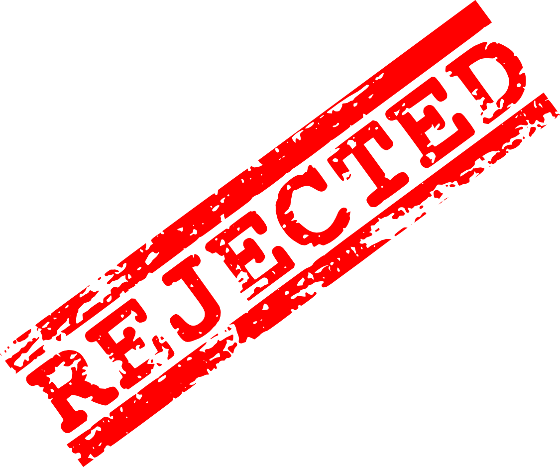 Denied stamp png transparent. Vector rejection clip free library