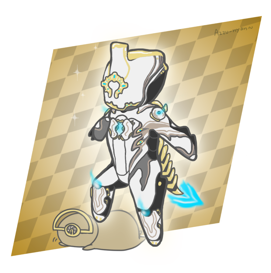 Excalibur drawing prime. Warframe chibi by azzu