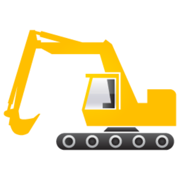 Backhoe vector animated. Free excavator cliparts download