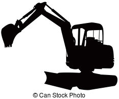 Backhoe clipart mini digger. Illustrations and royalty free png black and white