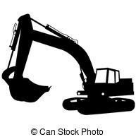 Backhoe clipart excavator arm. Vector eps images clip png transparent library