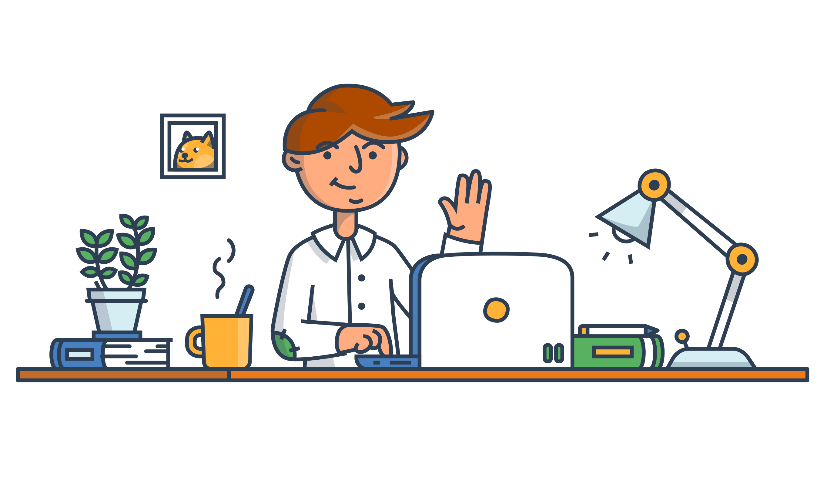 Excited clipart successful employee. Community remotive goodlooking remote