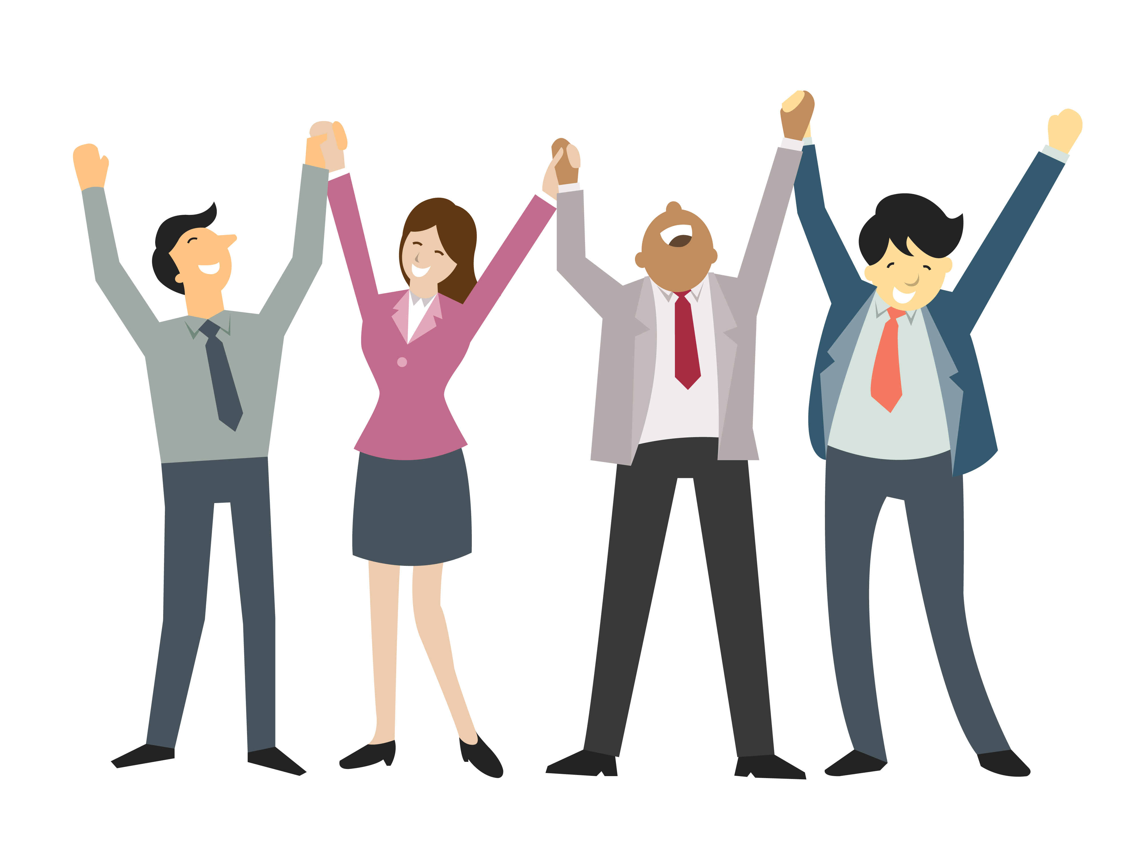 Excited clipart successful employee. The best tools for