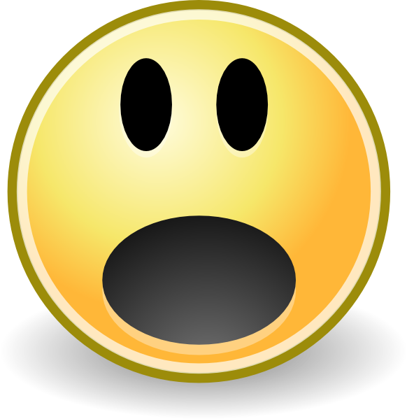 Surprised clipart sad. Free picture of shocked