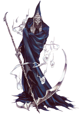 Executioner drawing. Grim reaper worldwide character