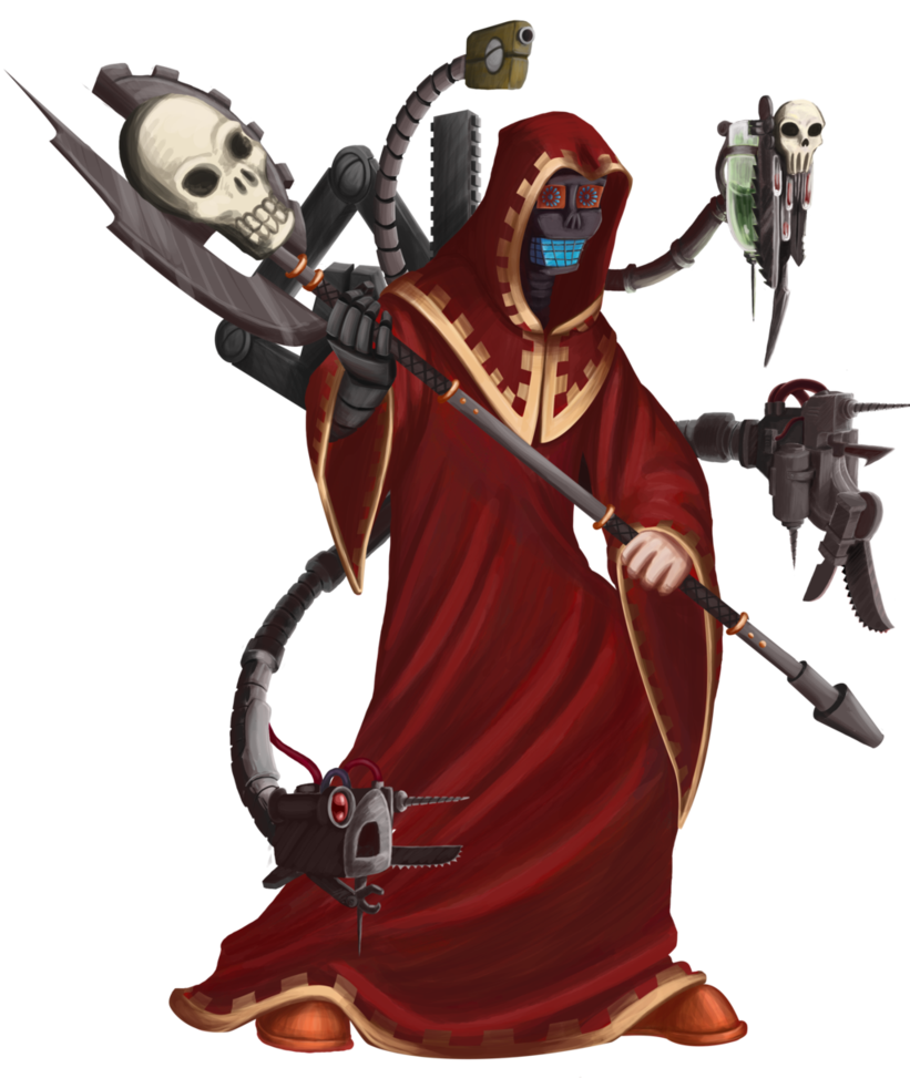 Executioner drawing hood. Tech priest thule by