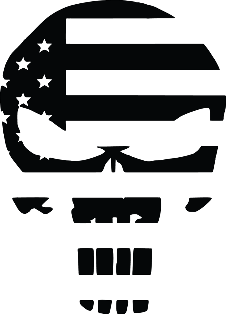 American vector punisher. Skull flag us military