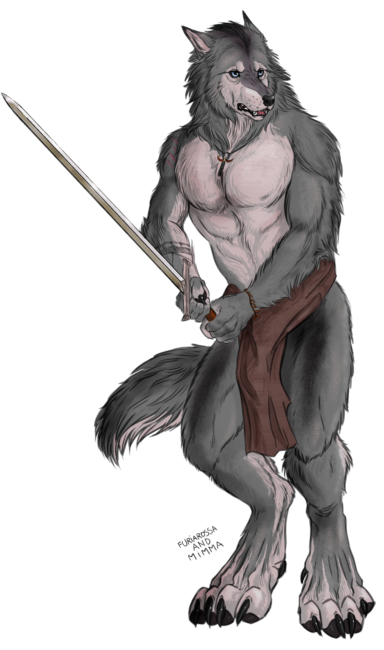 Executioner drawing. Commission transparent werewolf with