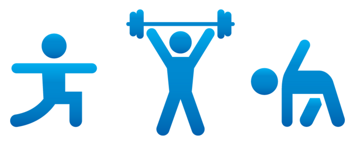 Free exercise border cliparts. Gym clipart graphic download