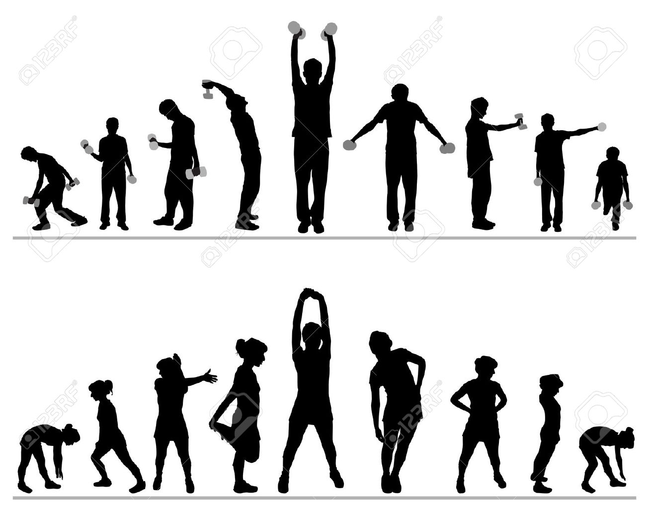 Exercise clipart borders. Fitness