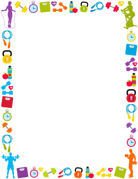Physical clipart border design. Printable fitness use the
