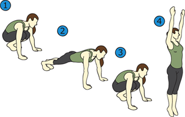 exercise clipart burpee