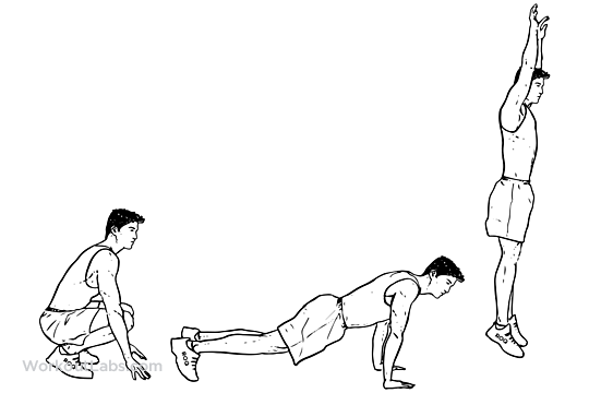 Exercise clipart burpee. Burpees squat thrust healthy