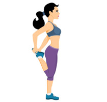 stretching clipart exercise gym