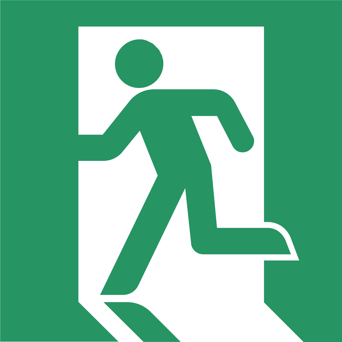 Exit sign png. Wikipedia