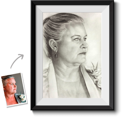 Expert drawing charcoal. Turn photos into paintings