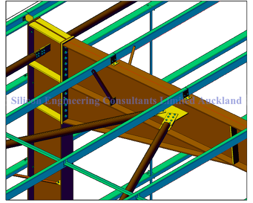 Expert drawing detailed. A steel fabrication is