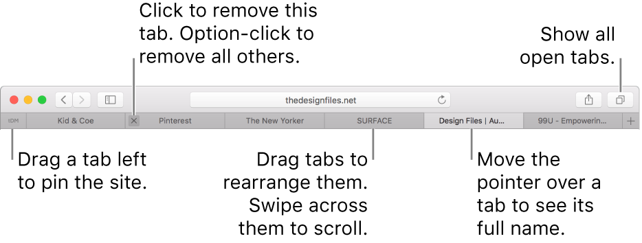 Use tabs for webpages. Explain Window View graphic black and white library