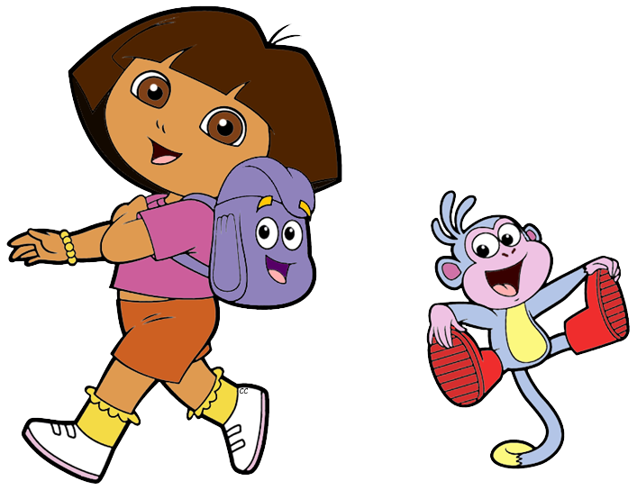 dora transparent kid