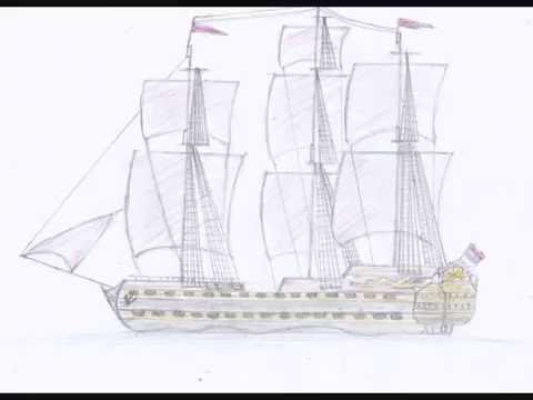 Explorer clipart first fleet ship. How to draw a