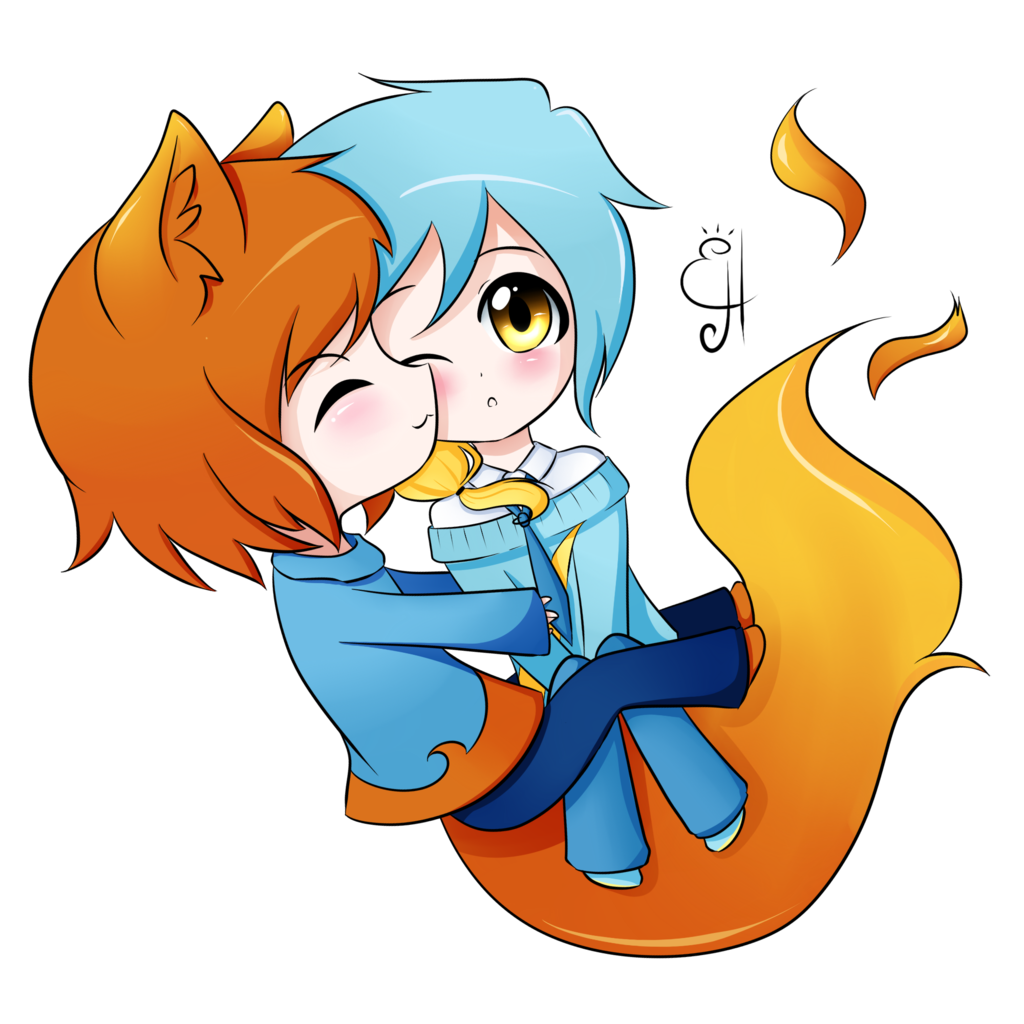 Firefox special hug by. Explorer drawing chibi png free stock