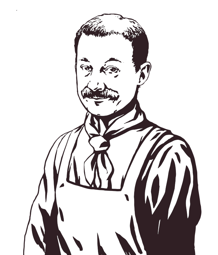 Explorer drawing male. Character in home front