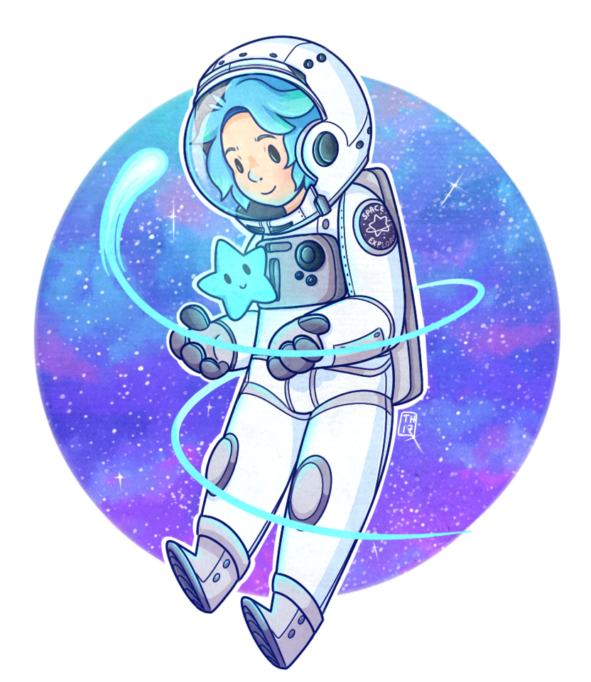 Explorer drawing space. Little by peachpandaa on