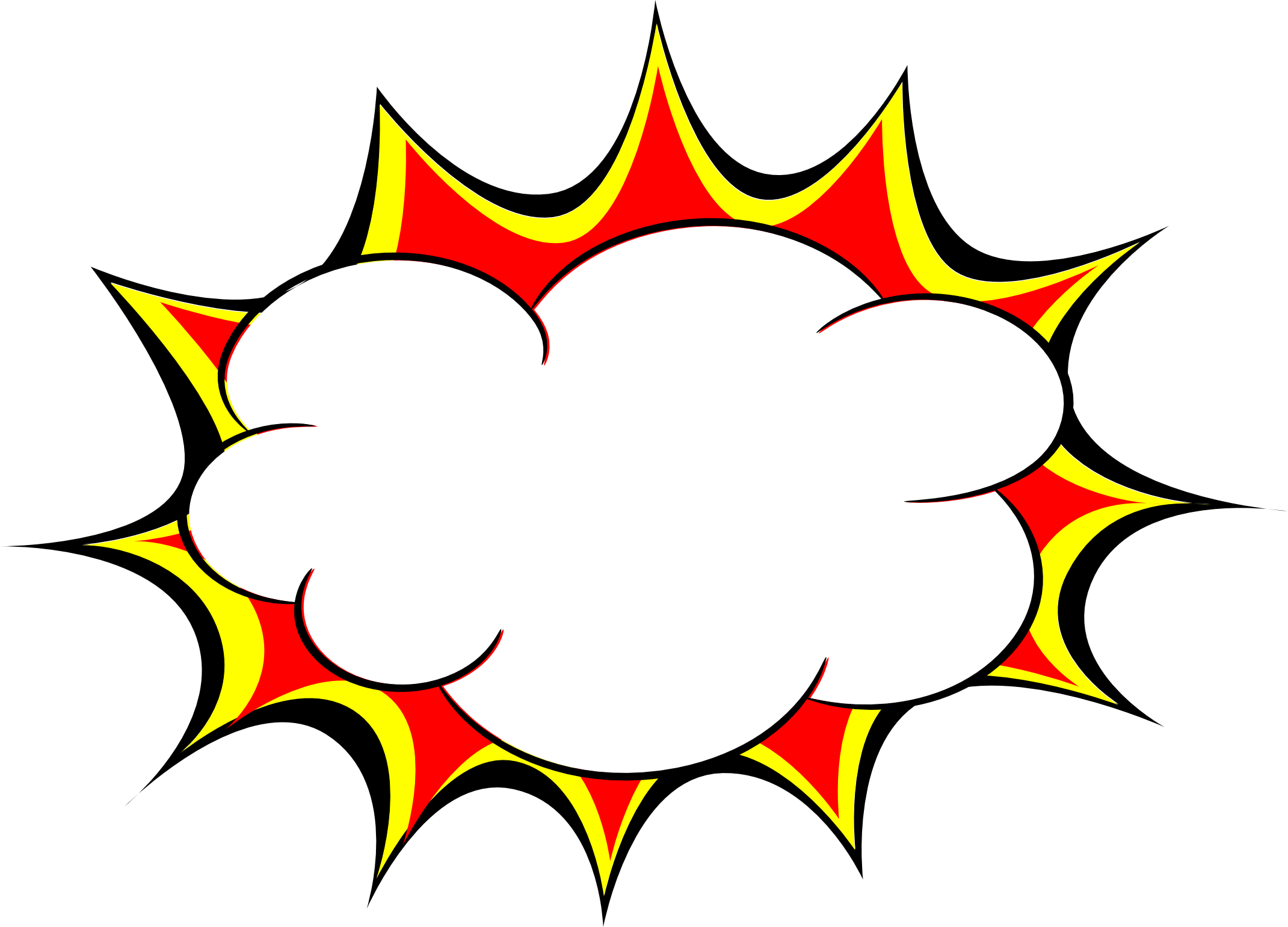 Explosion cartoon png. Comic bubble transparent