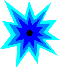 Blue explosion png. Cartoon clip art library