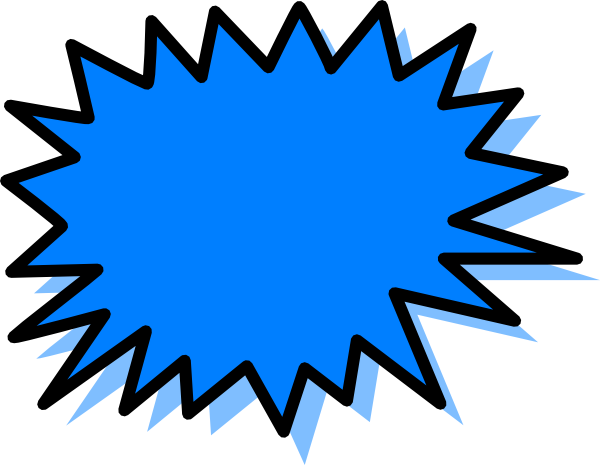 Comic book explosion png. Blue clip art at