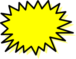 Explosion clipart. Yellow clip art at