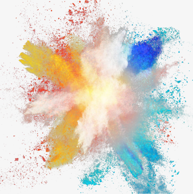 Explosion clipart paint. Color powder float png