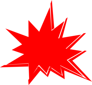 Explosion clipart red. Clip art at clker