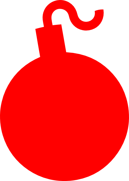 Explosion clipart red. Bomb clip art at