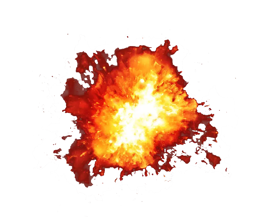 Explosion png. Transparent images all