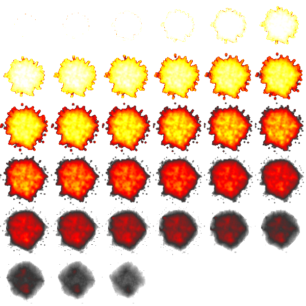 Explosion sprite png. Free graphics for flash