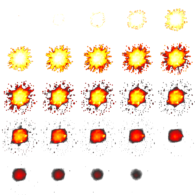 Explosion sprite sheet png. Free graphics for flash