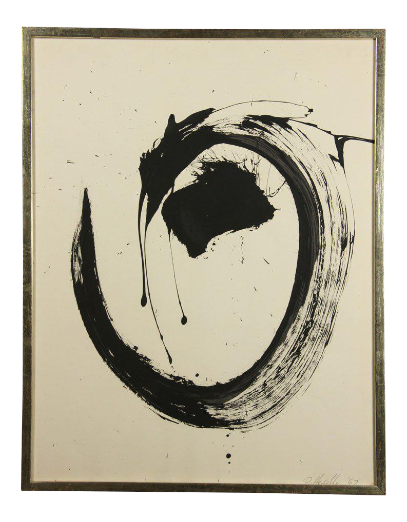 Expressionism drawing eye. Exceptional abstract expressionist work